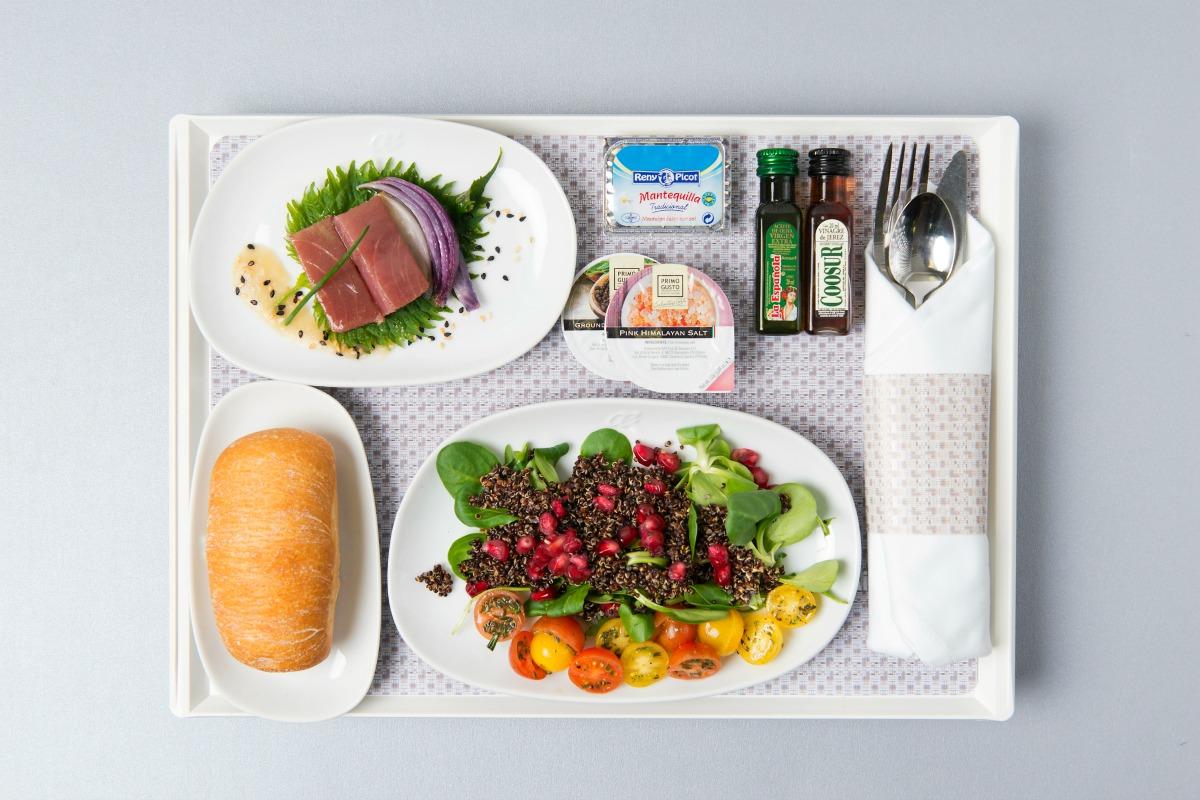 superalimentos, quinoa, menus a bordo