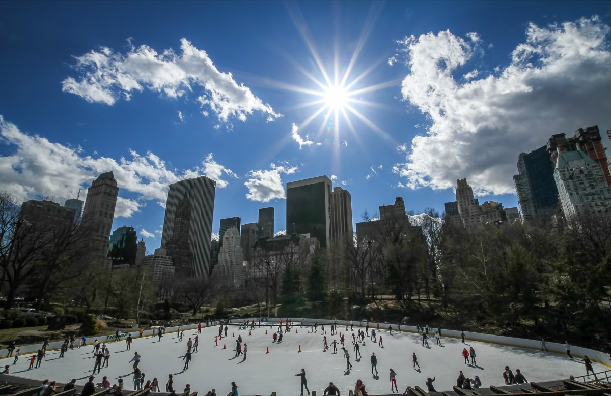 pista patinaje en central park