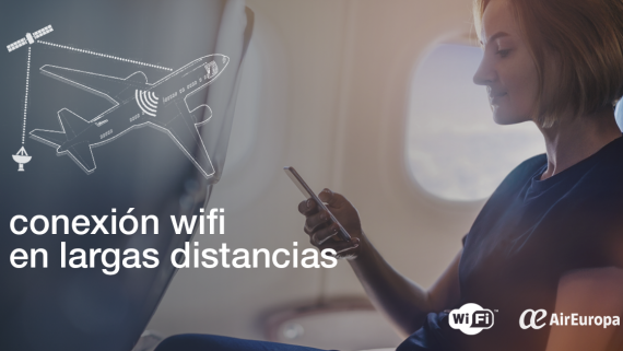 WiFi a bordo, larga distancia, vuelos internacionales
