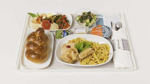 Menús a bordo Tel Aviv Madrid, menú kosher
