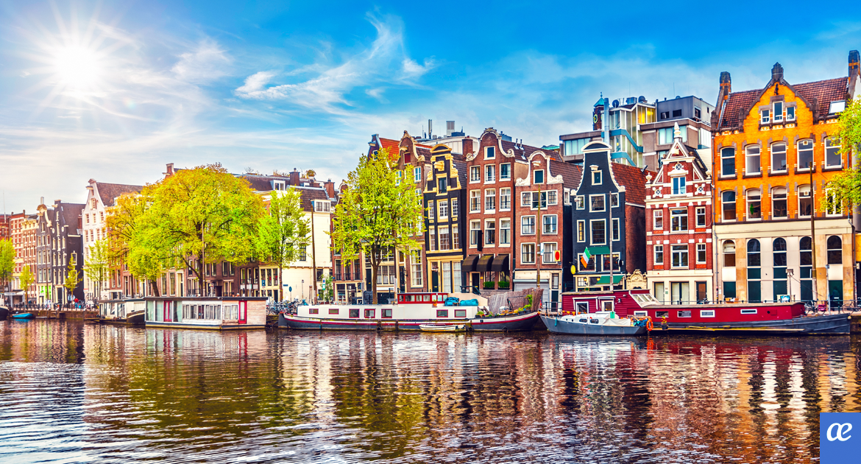 Ámsterdam, canales holandeses, Holanda