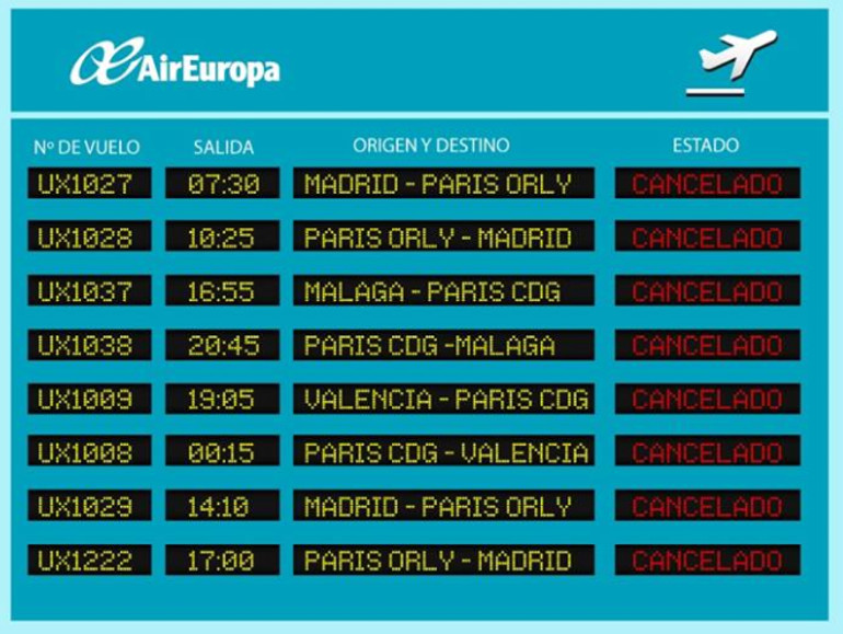 confirmar vuelo con Air Europa