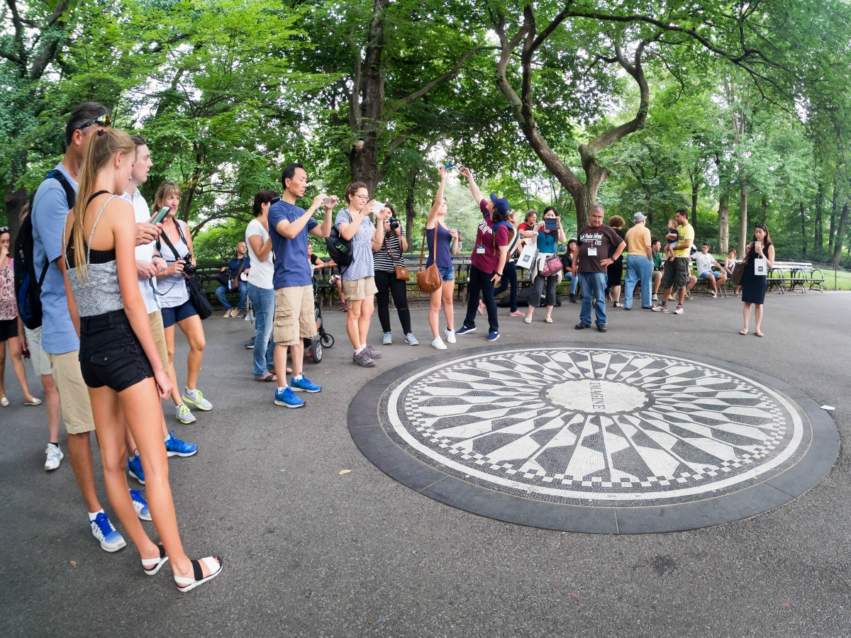 central park, strawberry field,