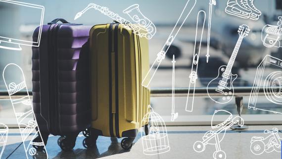 equipaje especial, equipaje voluminoso