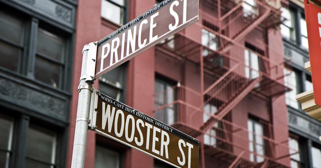soho, prince street, nueva york
