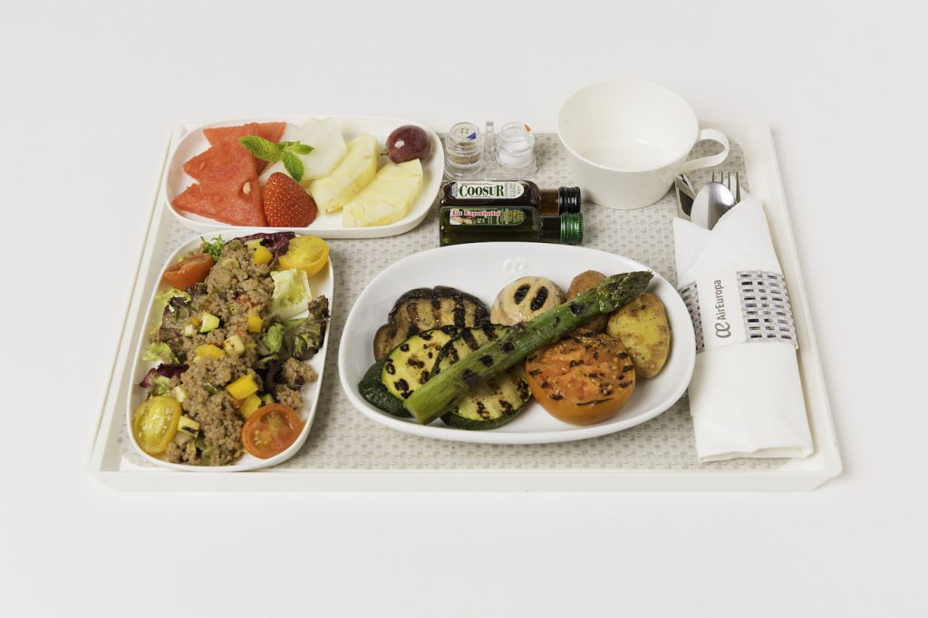 Menús a bordo Madrid Tel Aviv, menú vegano