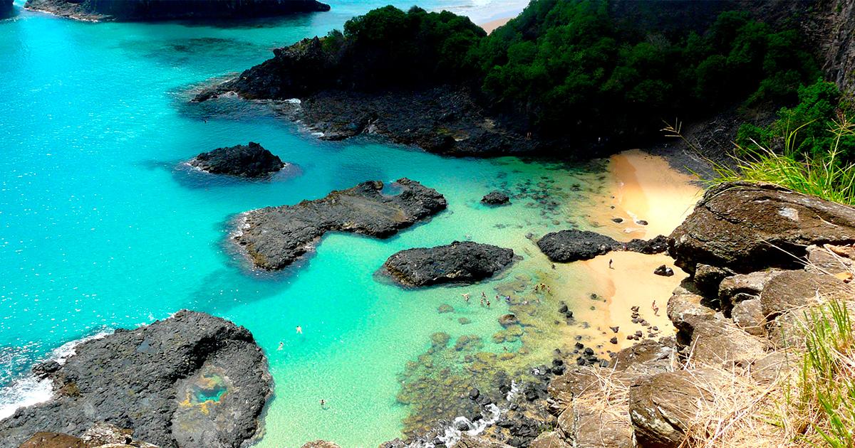 bahía do porcos, fernando de noronha, pernambuco, brasil, playas en pernambuco, air europa