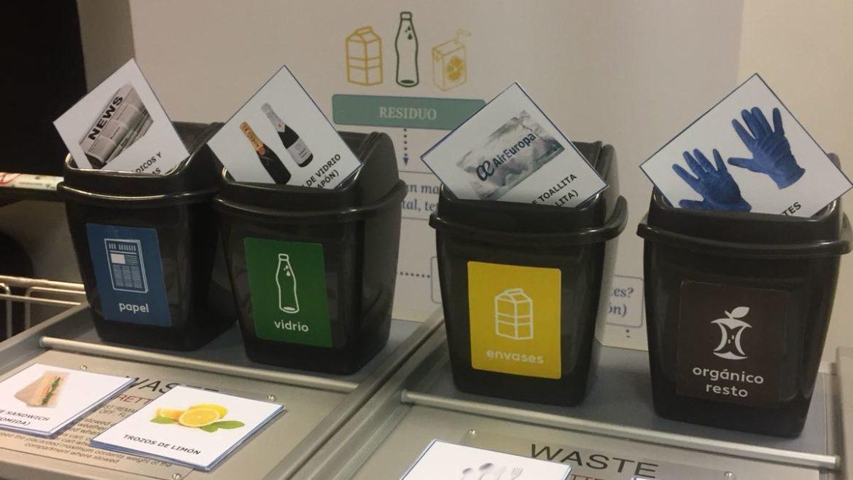 reciclando a bordo, air europa, talleres de segregación, talleres de clasificación de residuos, reciclar a bordo