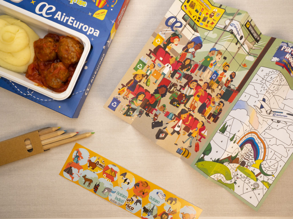 Kids Menu, Children, Air Europa, On-board Menu