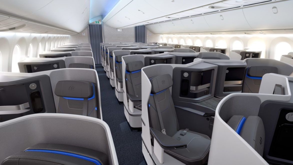 nueva business, 787-9, dreamliner