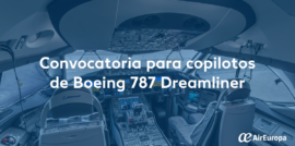 convocatoria Dreamliner, Boeing 787, empleo Air Europa