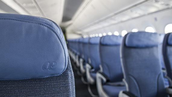 Cabina turista de Boeing 787 Dreamliner