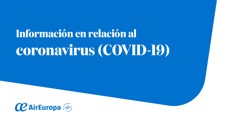 coronavirus, air europa, vuelos