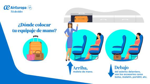 equipaje de mano, maleta de mano, equipaje a bordo